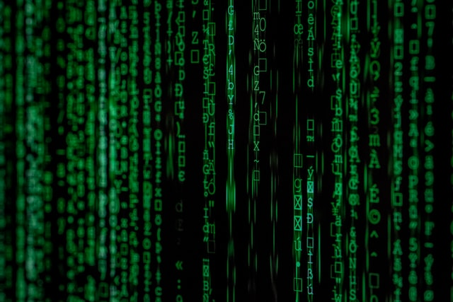 grüner Computercode