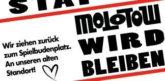 Der Hamburger Musikclub Molotow kann dank der Stadt Hamburg zurück an seinen ursprünglichen Standort. Foto: Molotow Facebook-Post