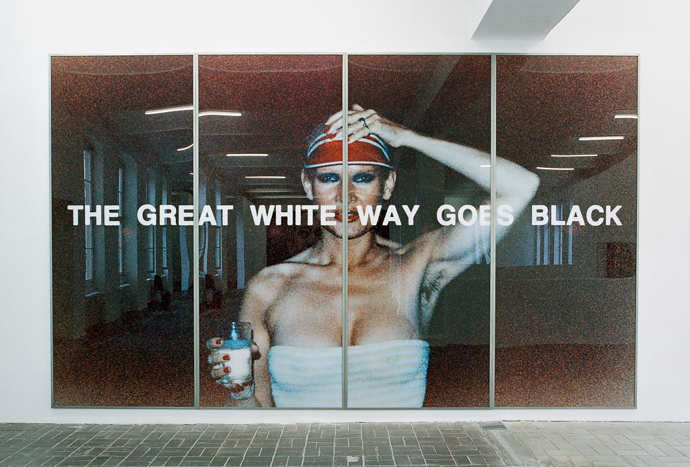Katharina Sieverding, THE GREAT WHITE WAY GOES BLACK