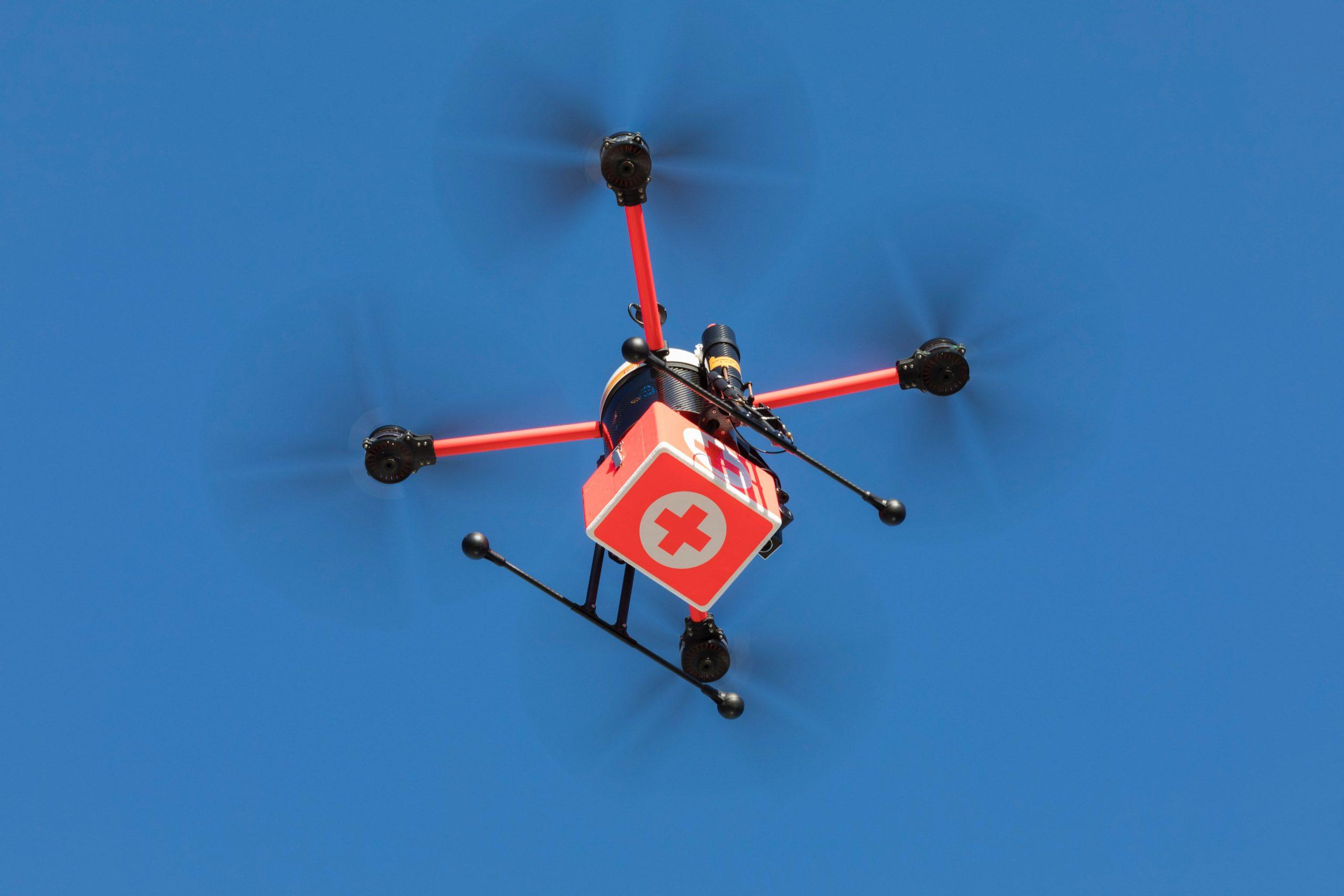 """Die Drohne """"Medifly"""" vernetzt hamburgs Krankenhäuser."""