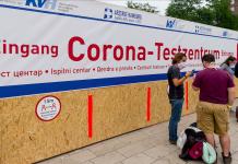 Das Corona-Testzentrum am Hamburger Hauptbahnhof. Foto: Markus Scholz/dpa