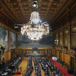 Sitzung der Hamburgischen Bürgerschaft. Foto: Ulrich Perrey/dpa
