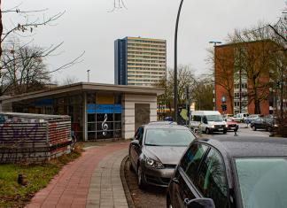 """Die """"Musikstation"""" direkt an der U-Bahn Emilienstraße, Foto: Marie Filine Abel"""