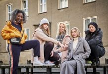 Die Druck-Girlgang: Sam, Hanna, Kiki, Mia und Amira. Foto: ZDF/Bantry Bay/Gordon Muehle