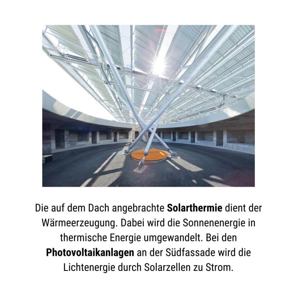 Solarthermie auf dem Energiebunker