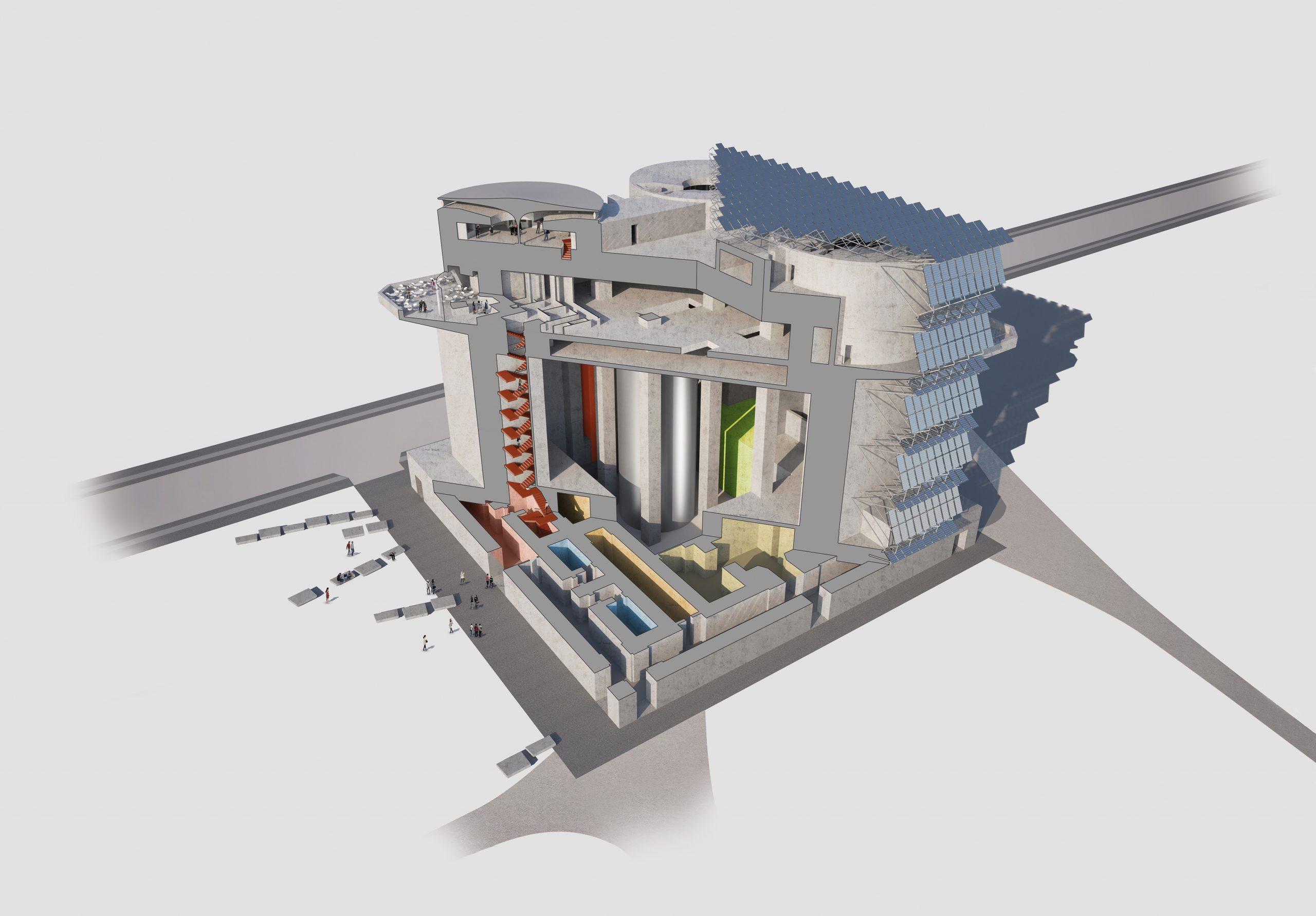 Technologien des Energiebunkers in Wilhelmsburg