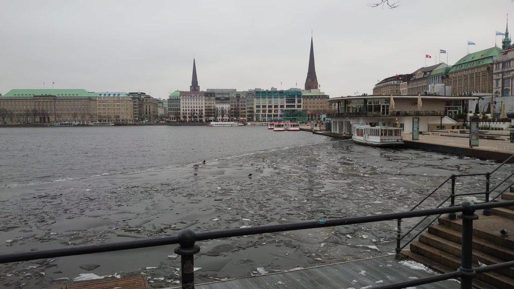 Binnenalster Eis Hamburg