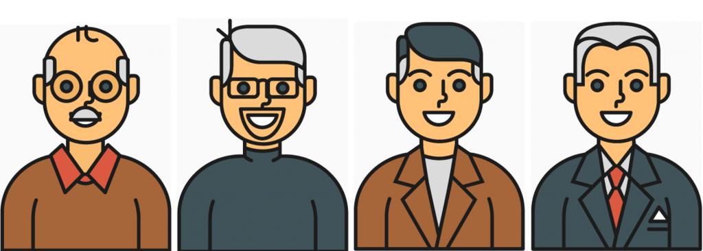 Die User Bahnmoeller, Wikipeter-HH, Wosch21149 und Reinhard Kraasch sind fester Bestandteil der Hamburger Wikipedia-Community. Symbol-Grafiken: Freepik