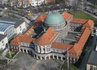 Die Universität Hamburg von oben.
