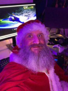 Udett Schaffrath verkleidet als Weihnachtsmann