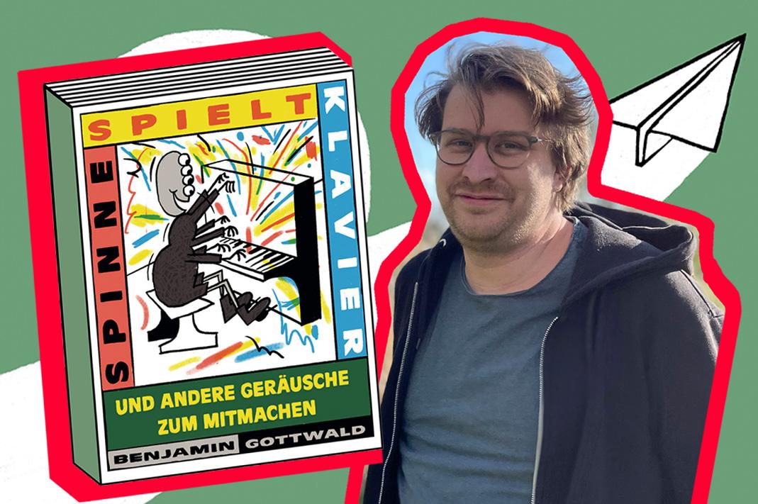 Benjamin Gottwald mit seinem Bilderbuch
