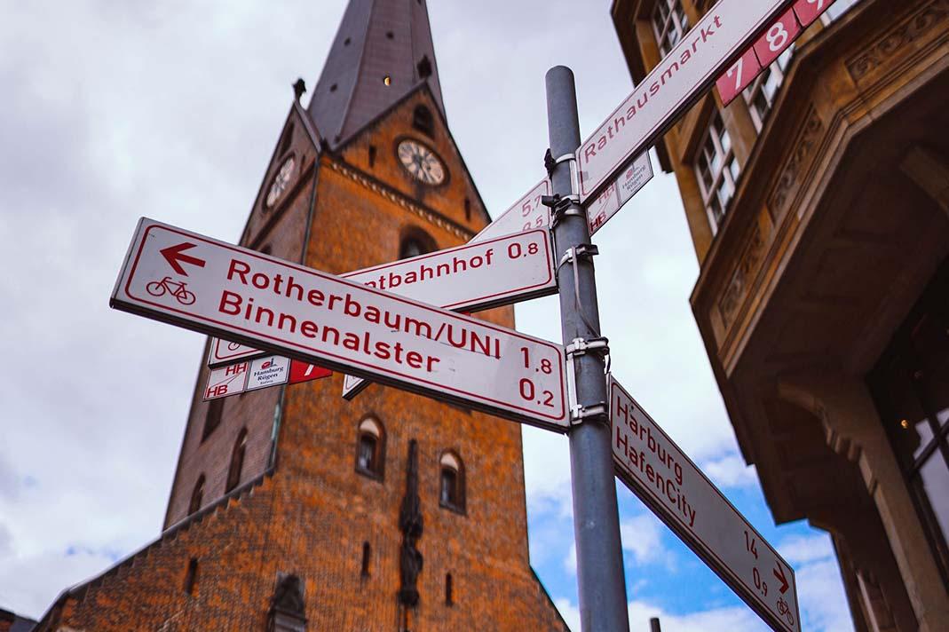Lebendige Innenstadt in Hamburg
