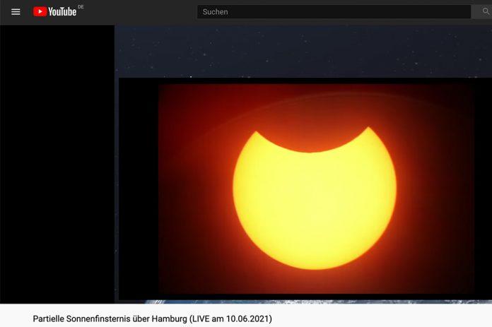 Sonnenfinsternis in Hamburg, Livestream Planetarium Hamburg