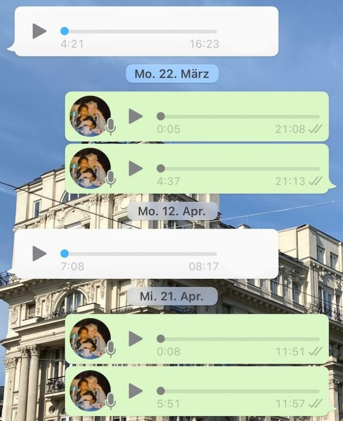 WhatsApp-Verlauf aus Sprachnachrichten
