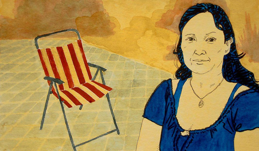 Ein Portrait von Carolina Gonzalez-Schultchen, die Initiatorin der Klönschnackbank in Dulsberg