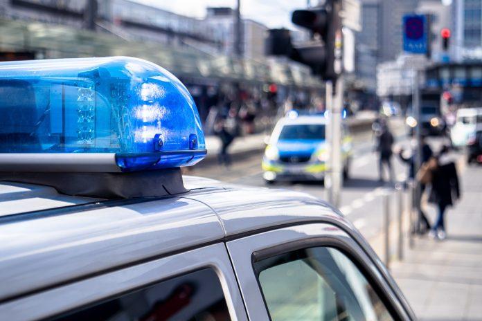 Polizeiwagen und Blaulicht