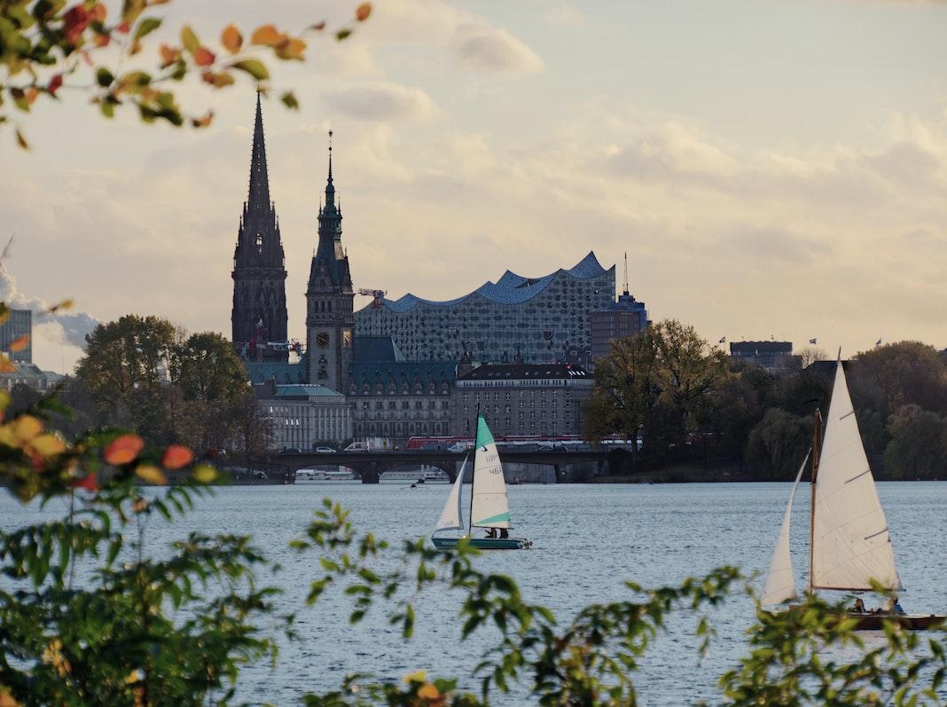 Hamburg Panorama mit Blick auf die Elphie