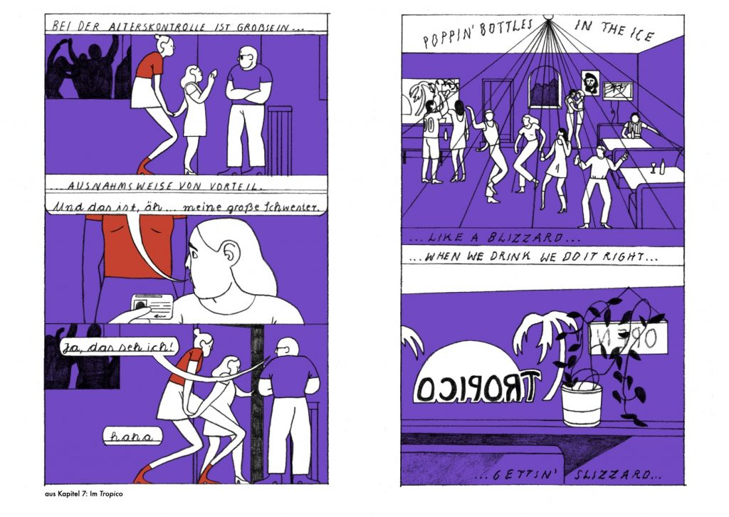 """Ausschnitt aus dem Comic """"Anna"""" von Mia Oberländer"""